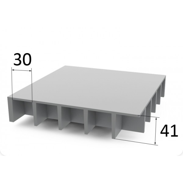 Lasikuitulattia P38 30 x 30 mm