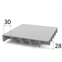 Lasikuitulattia P25 30 x 30 mm