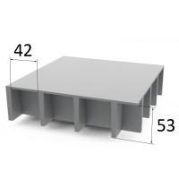 Lasikuitulattia P50 42 x 42 mm