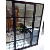 Formaloft teräs lasiovi-, pariovi- ruutulasiseinä -rakennelma