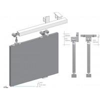 Valkoinen matta  liukuovi - väliseinä mittojen mukaan