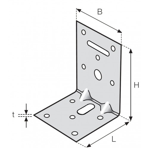 Kulmalevy erikylkinen (20 kpl)  60x90x60x2,5